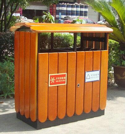 钢木垃圾桶-gm-012
